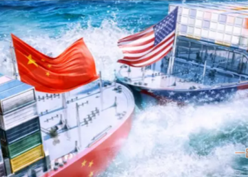 由于贸易战的影响,跨太平洋贸易运量面临风险